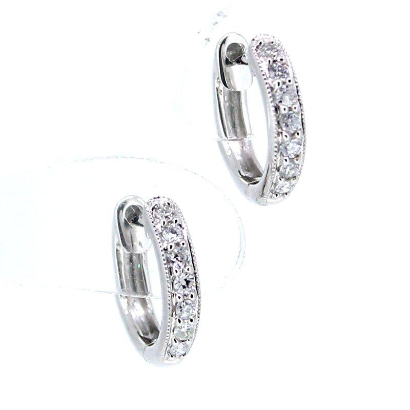 Decor Diamond Huggie Hoop Earrings