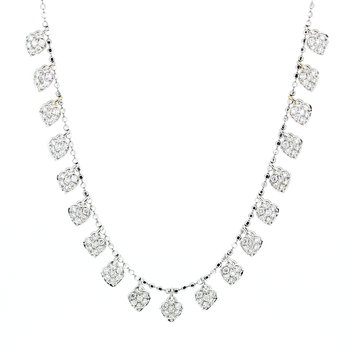 Diamond Pave Heart Drop Necklace