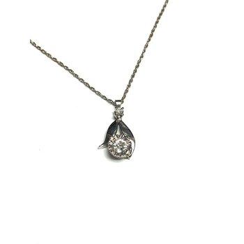 Illusion Set Diamond Pendant