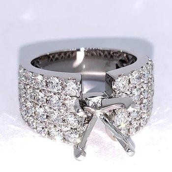 4 Row Diamond Ring Mounting