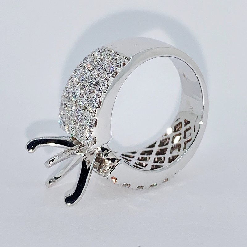 Decor 4 Row Diamond Ring Mounting