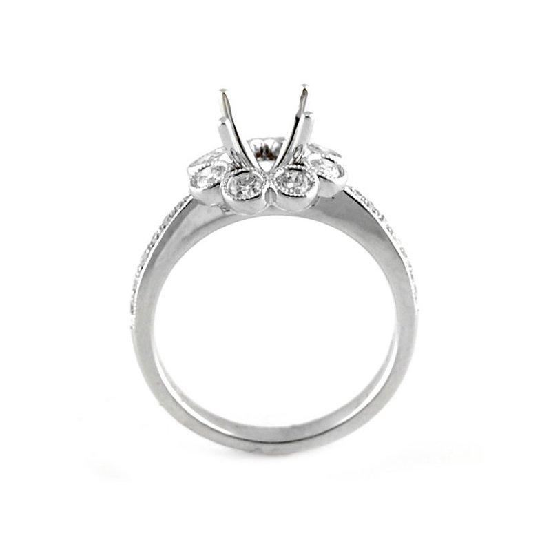 Decor Bezel Set Halo Diamond Ring Mounting