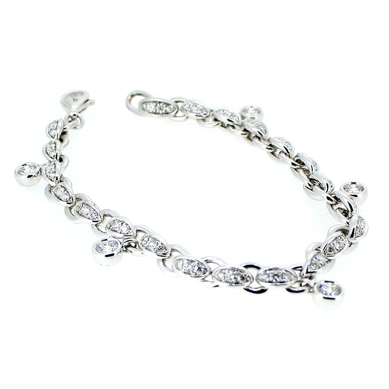 Decor White Gold Diamond Bracelet