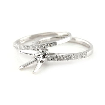 Classic Diamond Ring Mounting & Band