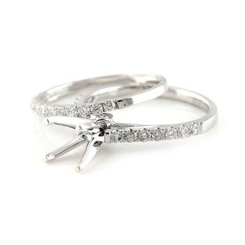 Classic Diamond Ring Mounting & Band