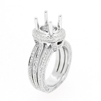 Double Split Shank Oval Ring Mounting