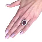 Decor Cabochon Ruby & Diamond Ring