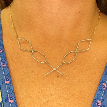 Geometric Shapes Necklace