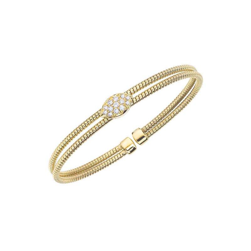 DA Gold Diamond Cuff Bracelet