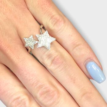 Pave Star Diamond Ring