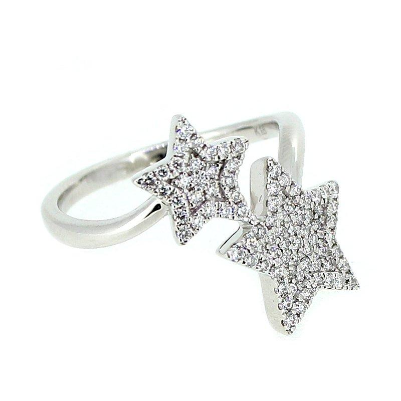 Decor Pave Star Diamond Ring