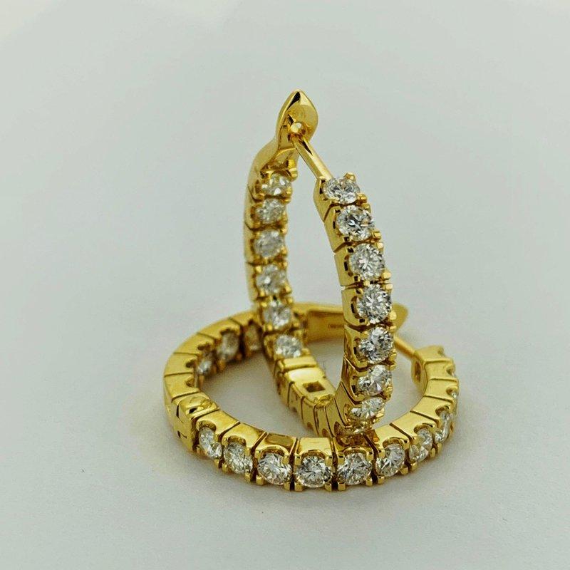 Decor Diamond Hoop Earrings