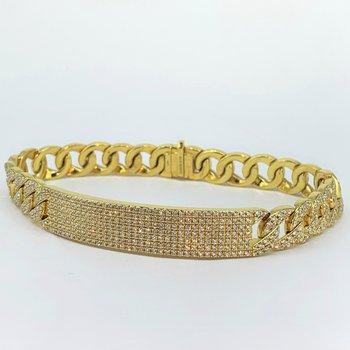 Pave Diamond ID Bracelet
