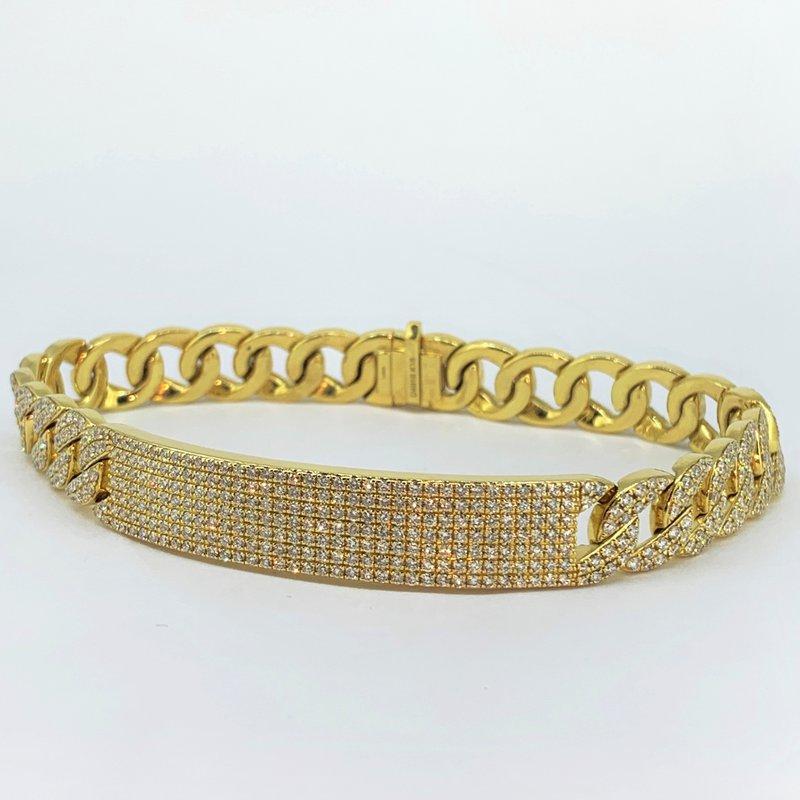 Decor Pave Diamond ID Bracelet