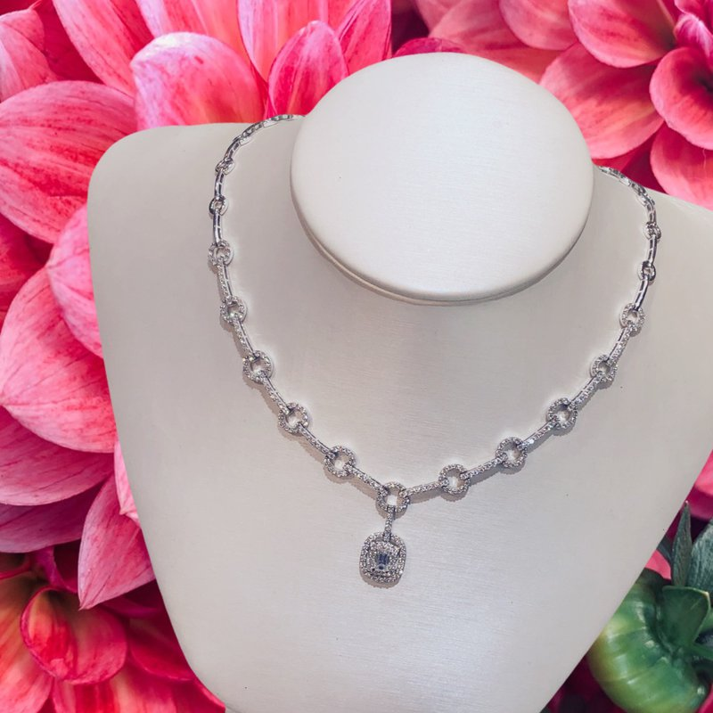 Odelia Diamond Drop Necklace