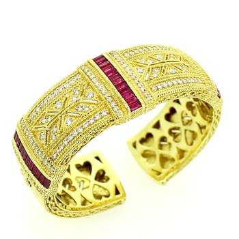 Limited Edition Ruby & Diamond Cuff Bracelet