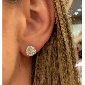 6.05ctw Diamond Stud Earrings