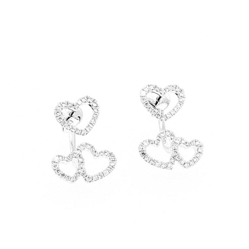 Decor Above & Below Diamond Heart Earrings