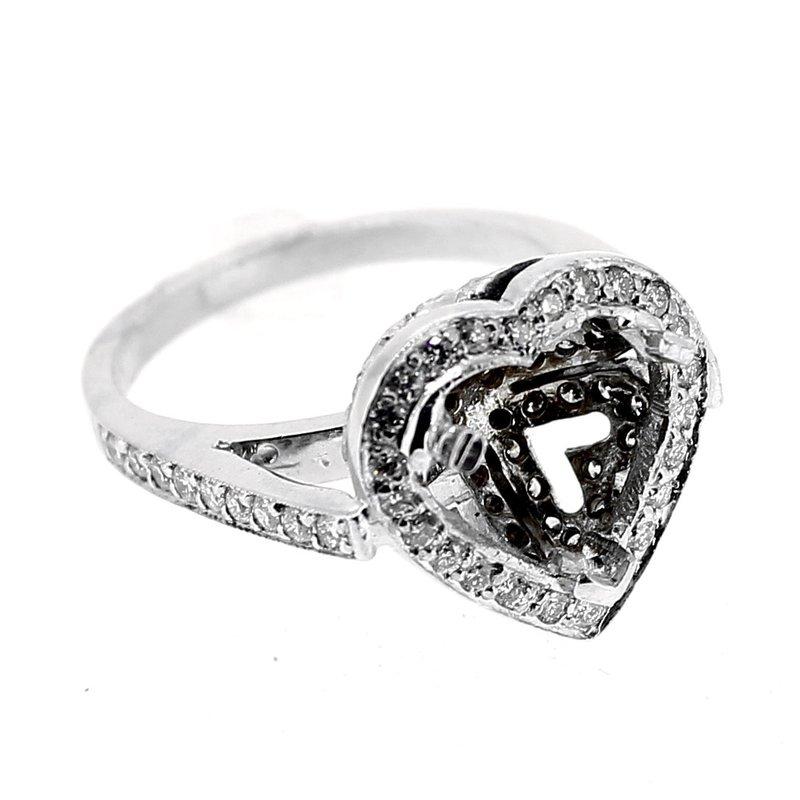 Decor Heart Shape Diamond Engagement Ring Mounting
