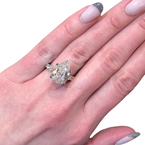 Decor Pear & Baguette Diamond Ring