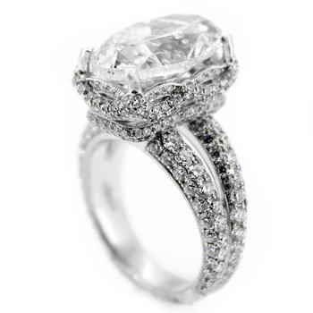 7 Carat Oval Diamond Engagement Ring