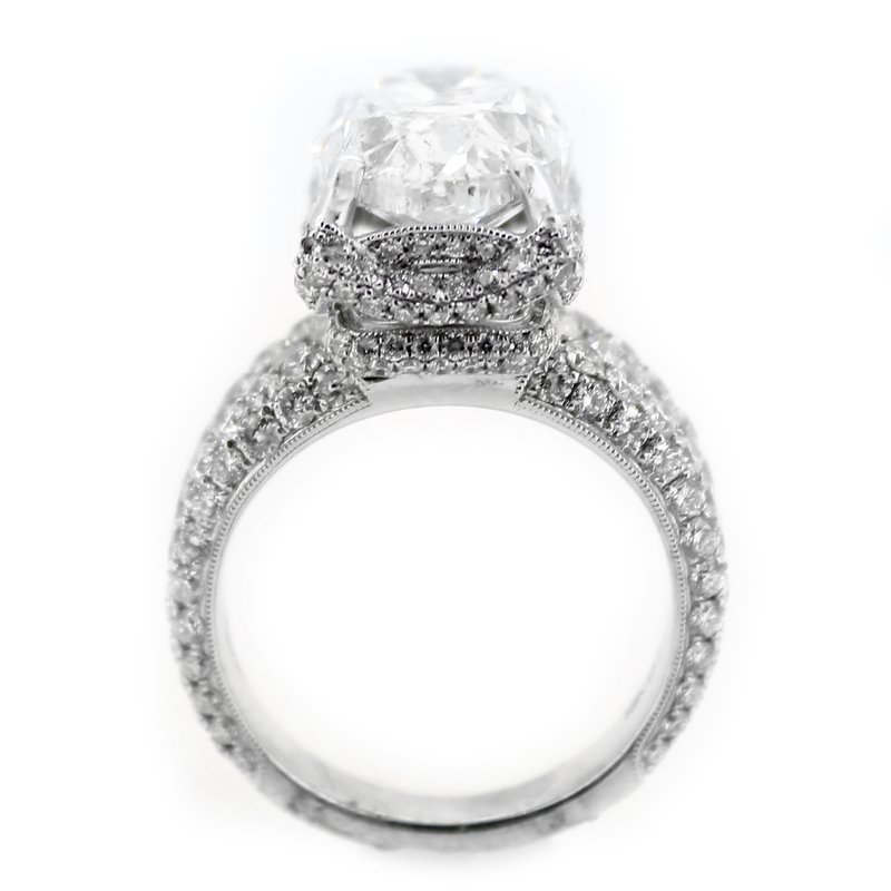 Decor 7 Carat Oval Diamond Engagement Ring