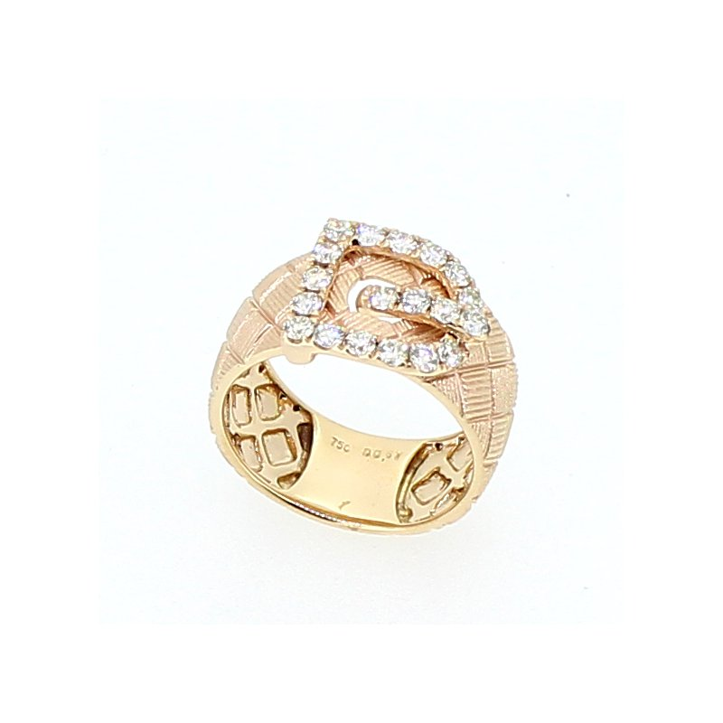 Decor Rose Gold Buckle Ring
