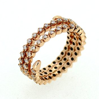 Flexible Diamond Wrap Ring