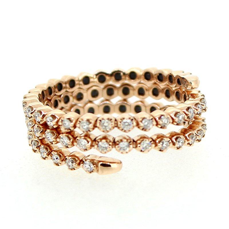 Decor Flexible Diamond Wrap Ring