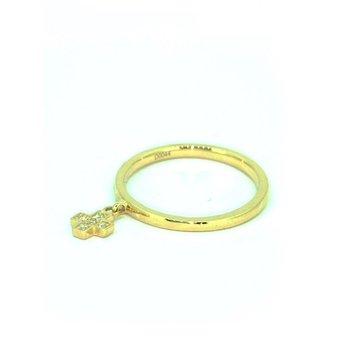 Diamond Cross Dangle Ring