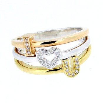"""I Love You"" Diamond Ring"