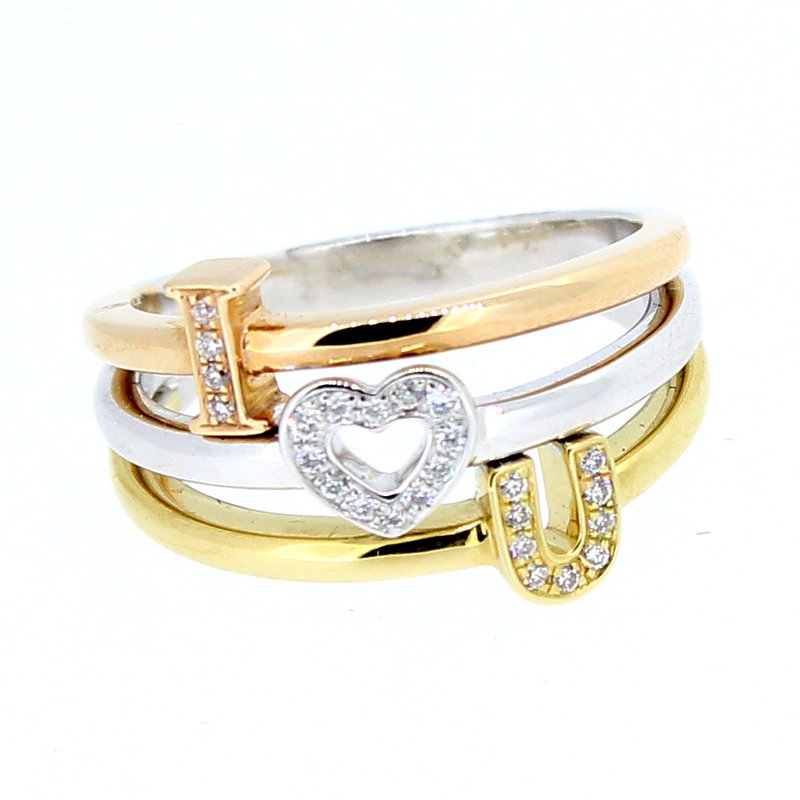 "Decor ""I Love You"" Diamond Ring"
