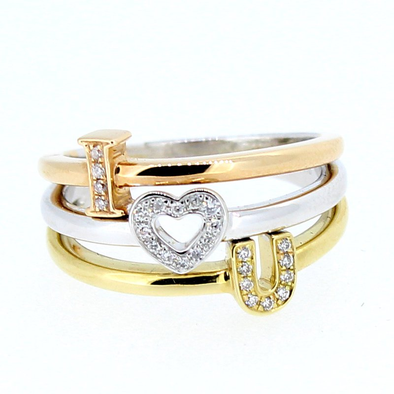 Decor I Love You Diamond Ring Decor Jewelry