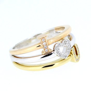 """I Love You"" Diamond Ring"