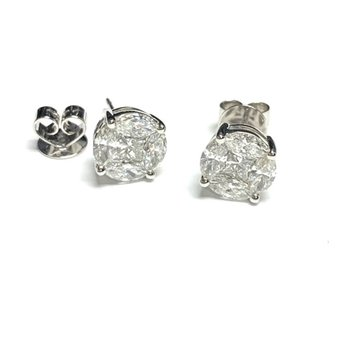 2.18ct Diamond Cluster Studs