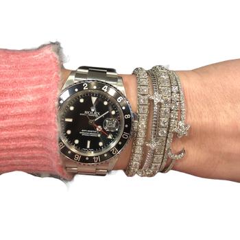 Star & Moon Diamond Cuff Bracelet