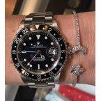 DA Gold Star & Moon Diamond Cuff Bracelet