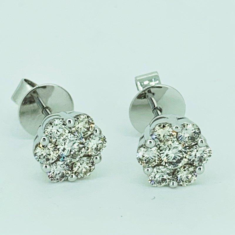 Decor Diamond Cluster Stud Earrings