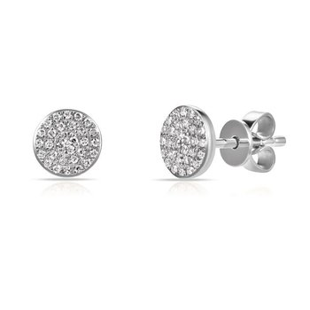 Pave Diamond Earrings