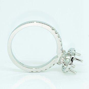 Diamond Halo Collar Ring Mounting