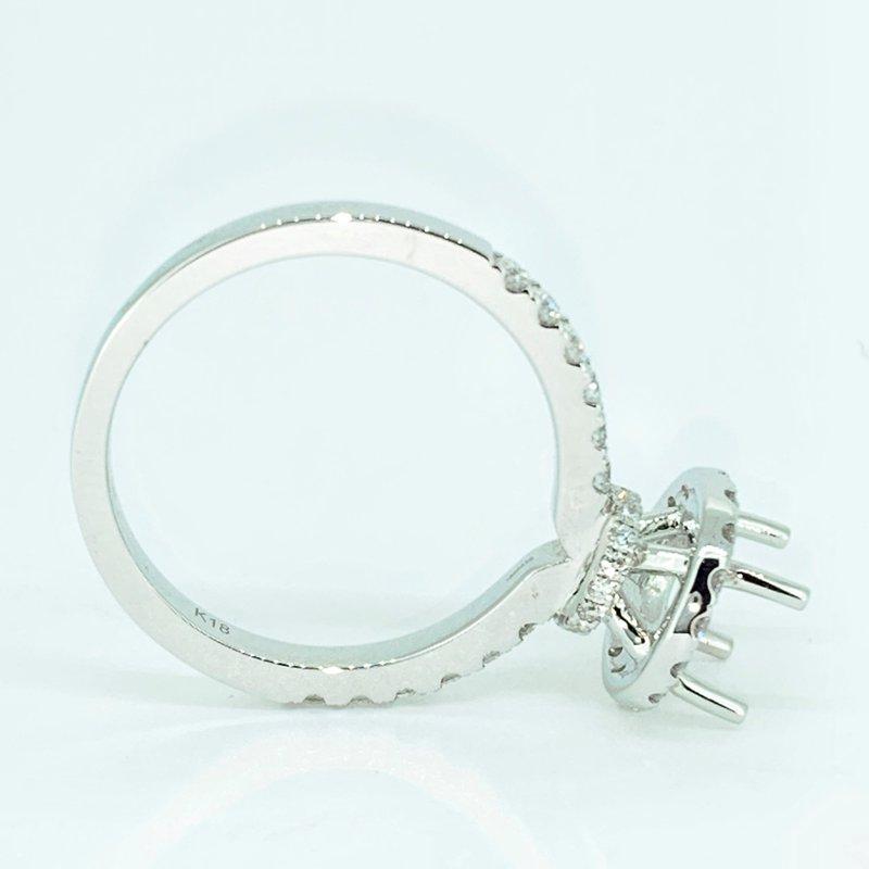 Decor Diamond Halo Collar Ring Mounting
