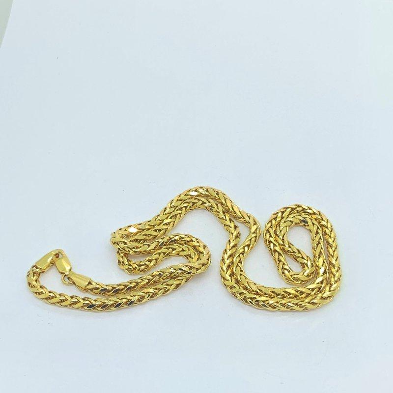 Decor Italian Hollow Wheat Chain Necklace
