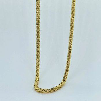 Italian Hollow Wheat Chain Necklace