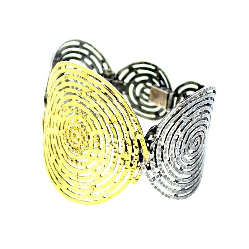 Kurtulan Spiral Cuff Diamond Bracelet