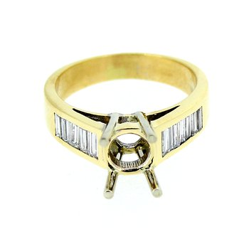Baguette Diamond Ring Mounting