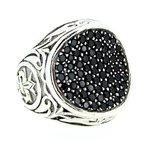 Scott Kay Black Sapphire Concave Ring