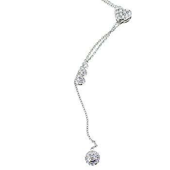 Long Lariat Diamond Necklace
