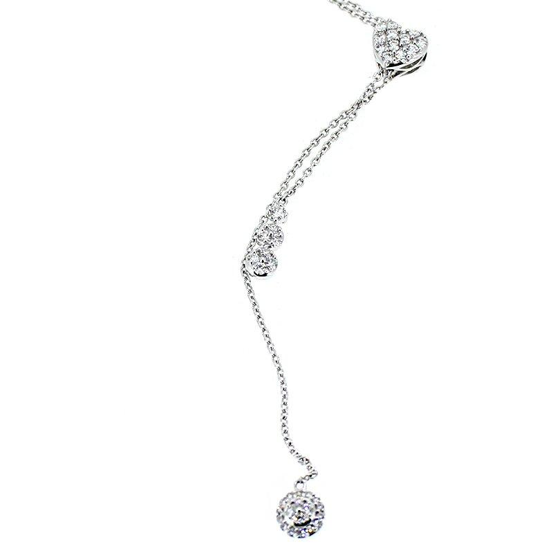 Long Lariat Diamond Necklace