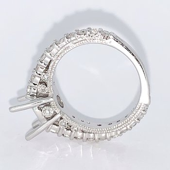 Round Cathedral Diamond Ring Mounting