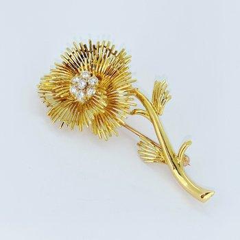 Floral Diamond Brooch